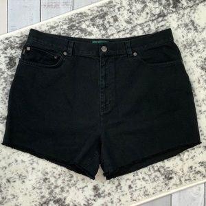 Lauren Jeans Co. cutoff mom jean shorts